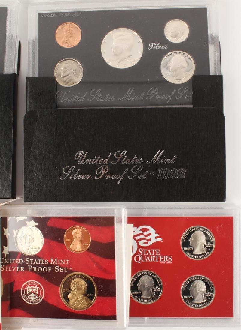 THREE US MINT SILVER PROOF SETS - 1992 & 2006 - 3