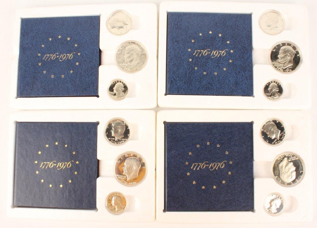 FOUR US BICENTENNIAL SILVER PROOF SETS