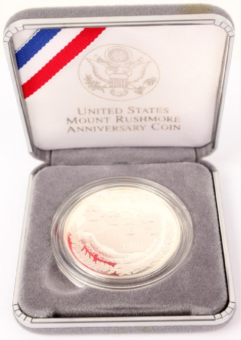 TWO 1991 SILVER PROOF US MOUNT RUSHMORE COINS - 4