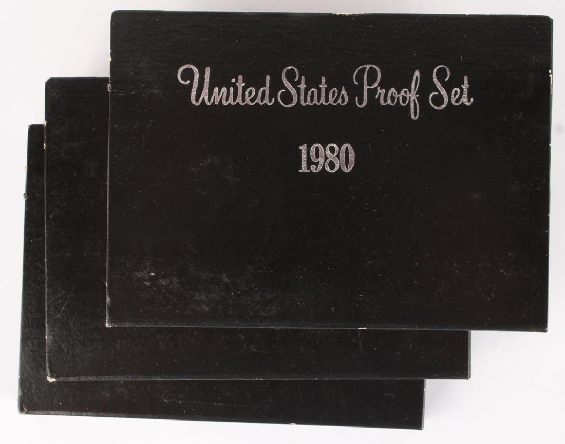 THREE UNITED STATES PROOF SETS 1980