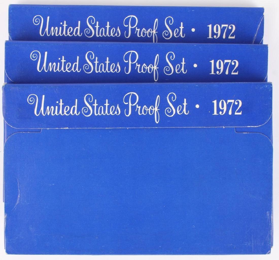 THREE 1972 UNITED STATES PROOF SETS