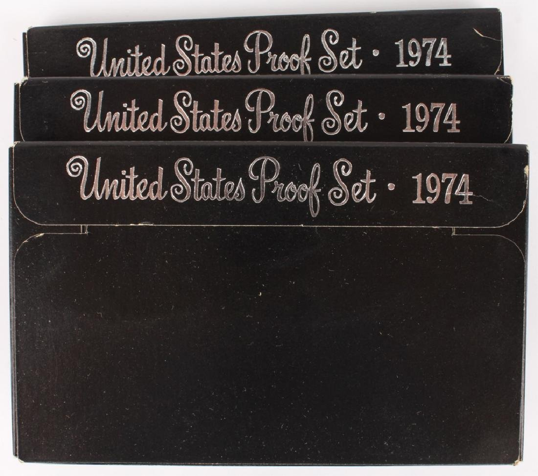 THREE 1974 UNITED STATES PROOF SETS