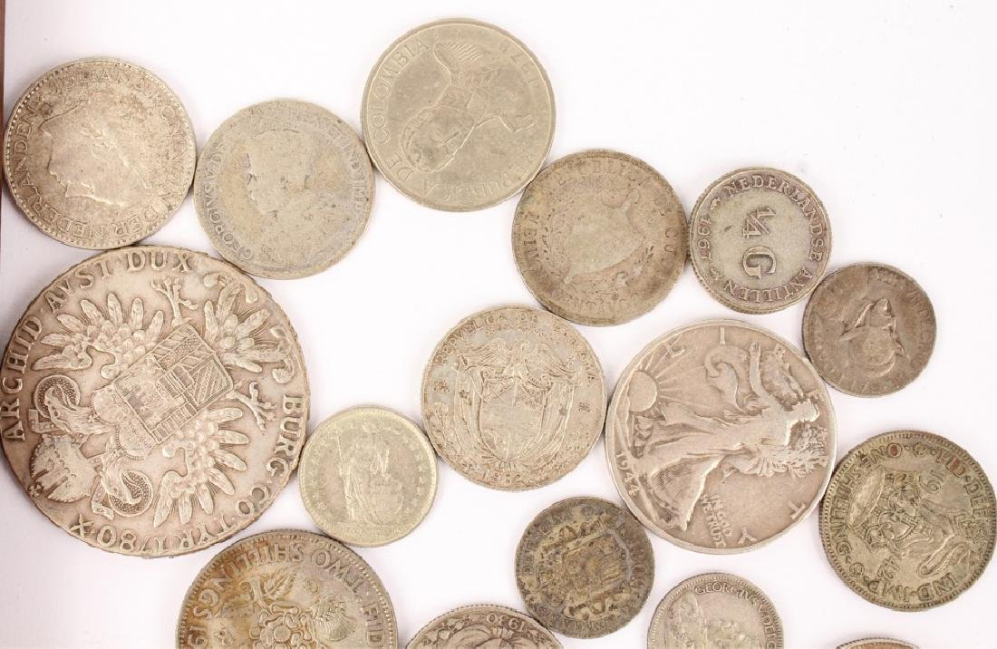 MIXED LOT OF SILVER WORLD COINAGE - 2