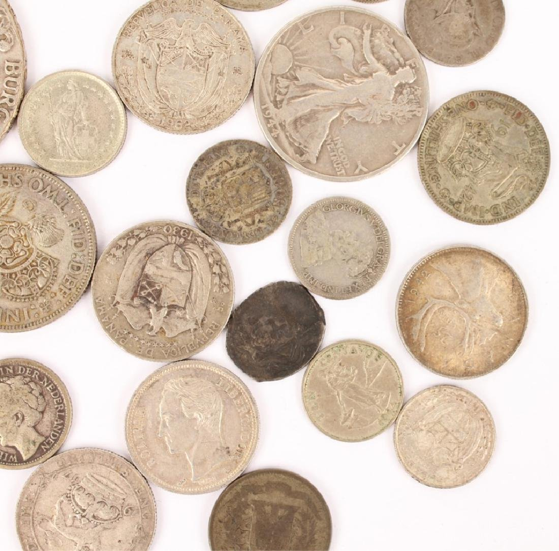 MIXED LOT OF SILVER WORLD COINAGE - 3