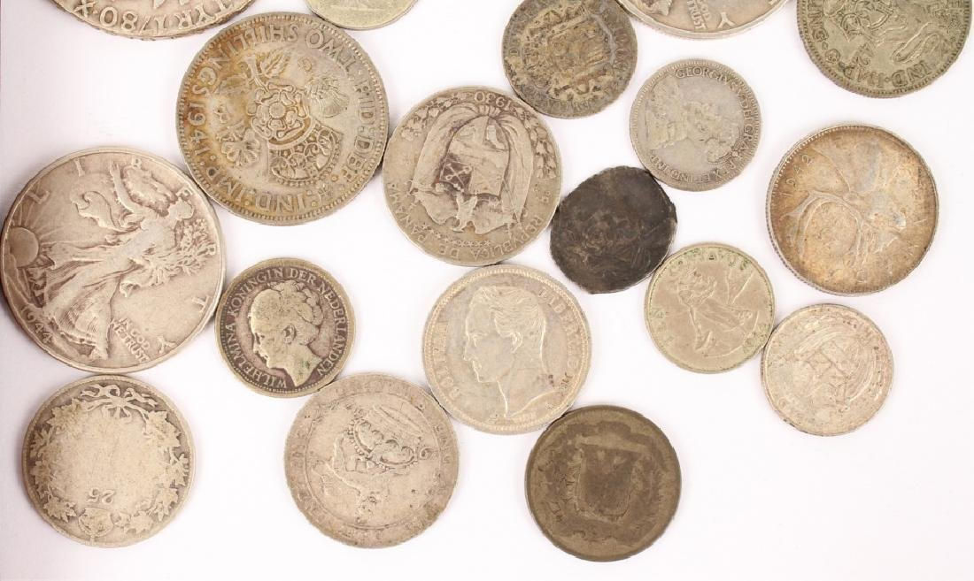 MIXED LOT OF SILVER WORLD COINAGE - 4