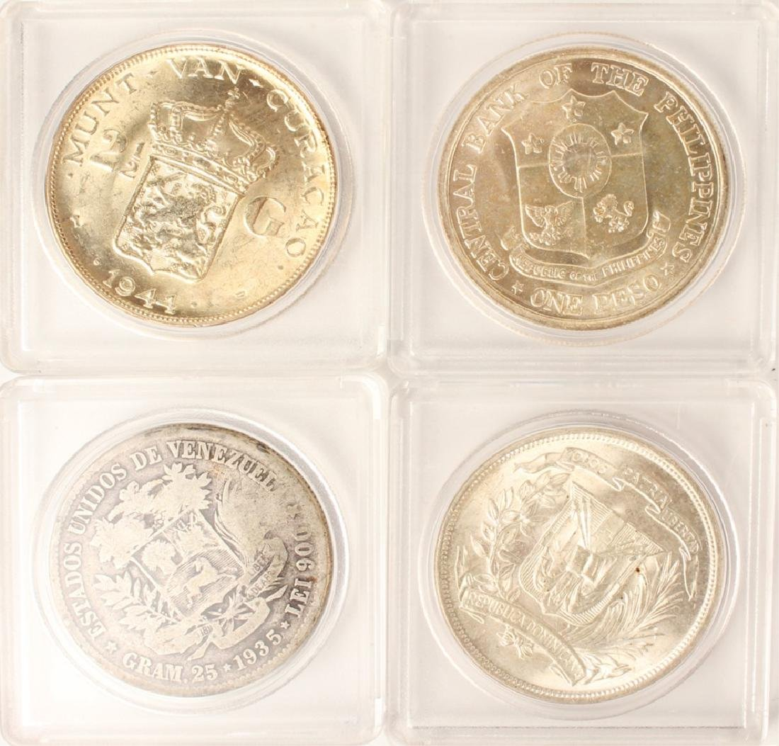 LOT OF 4 FOREIGN SILVER COINS - 2
