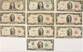(10)  ASSORTED US BANK NOTES