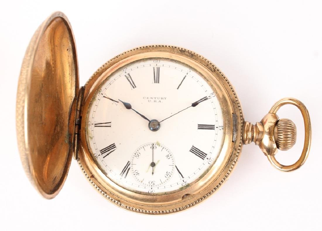GOLD FILLED & GOLD PLATED POCKET WATCHES LOT OF 2 - 5