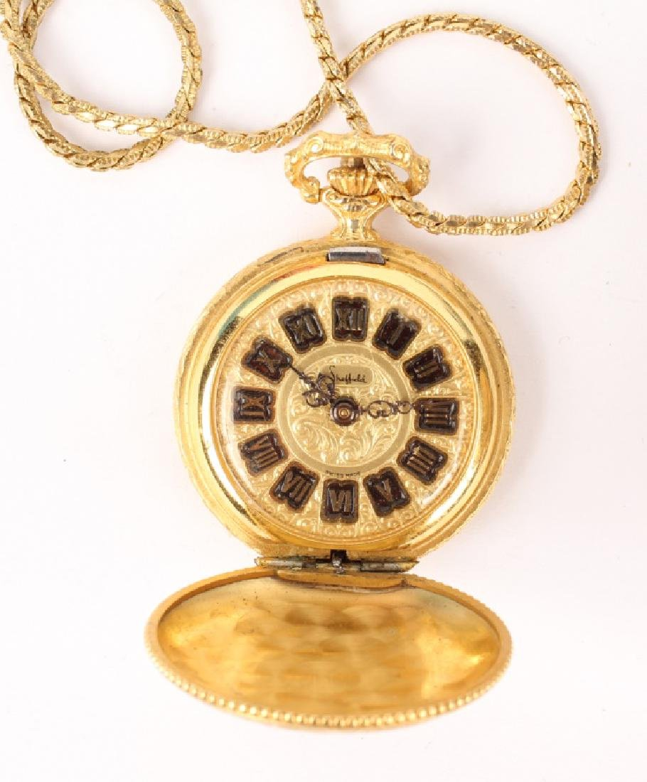 GOLD FILLED & GOLD PLATED POCKET WATCHES LOT OF 2 - 6