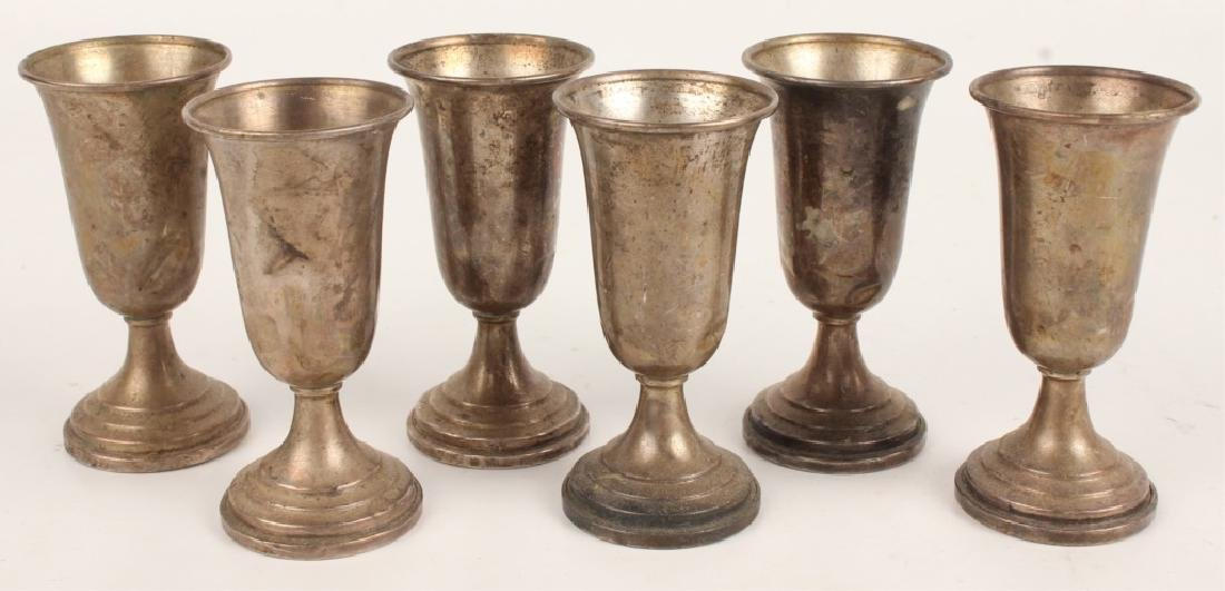 LOT OF 6 STERLING SILVER WEIGHTED CORDIALS