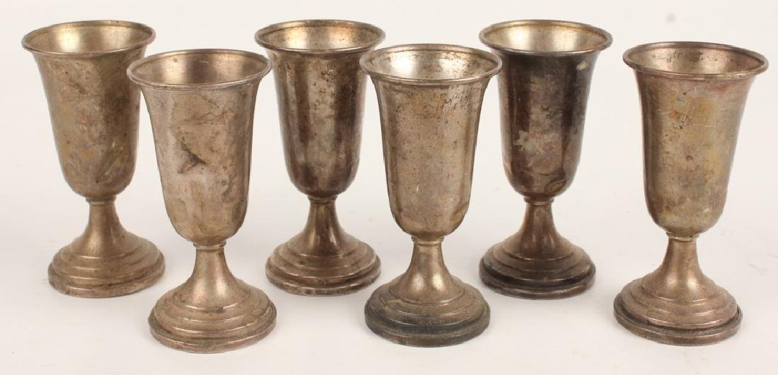 LOT OF 6 STERLING SILVER WEIGHTED CORDIALS - 2