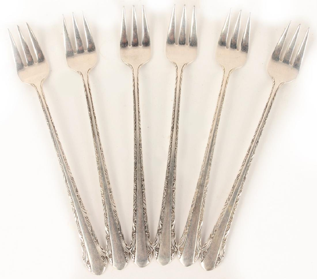 ALVIN STERLING SILVER CHASED ROMANTIQUE FORKS