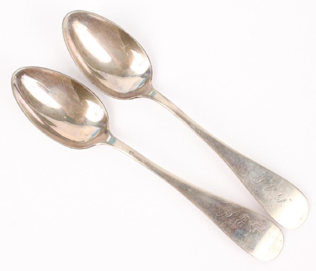 COIN SILVER SPOONS - LOT OF 2