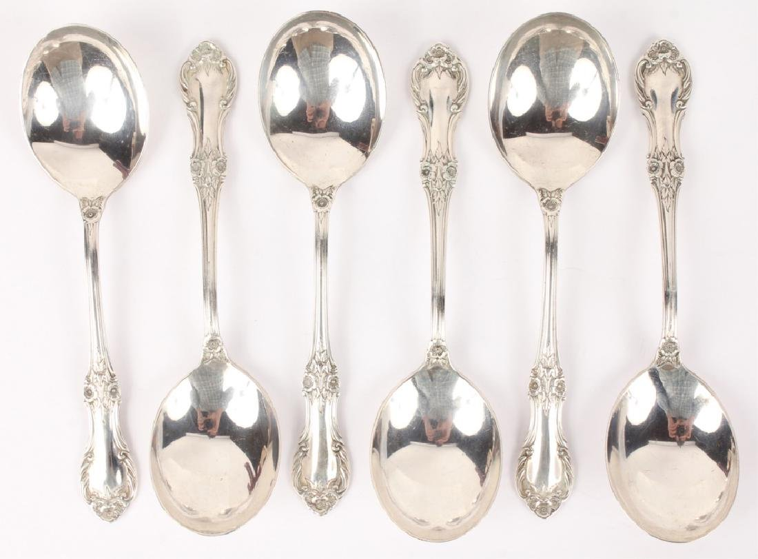 6 INTERNATIONAL STERLING SILVER SOUP SPOONS