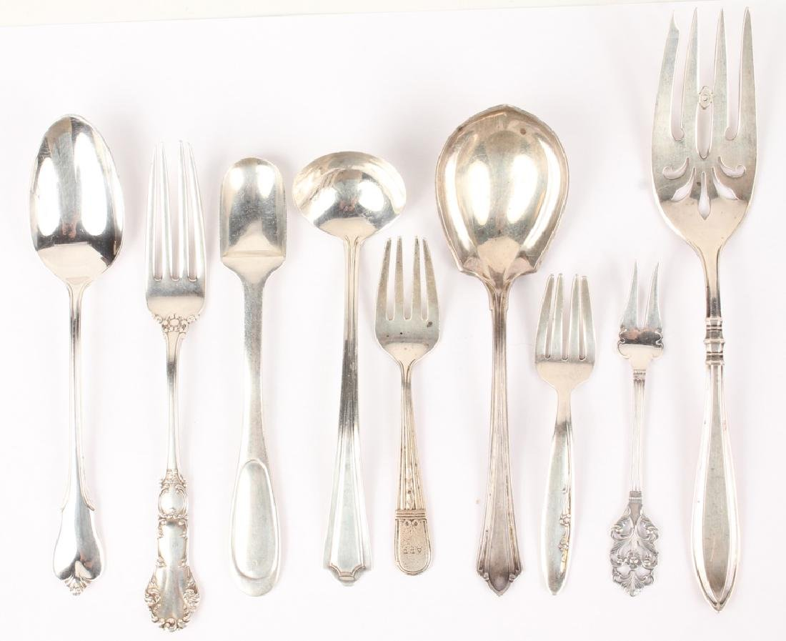 MIXED STERLING SILVER FLATWARE GORHAM WALLACE ETC.