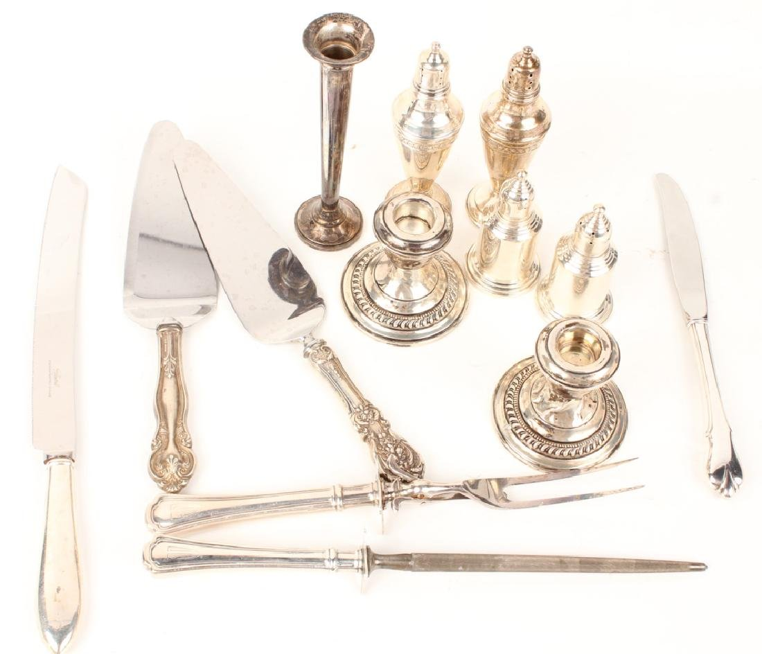 MIXED STERLING SILVER WEIGHTED ITEMS