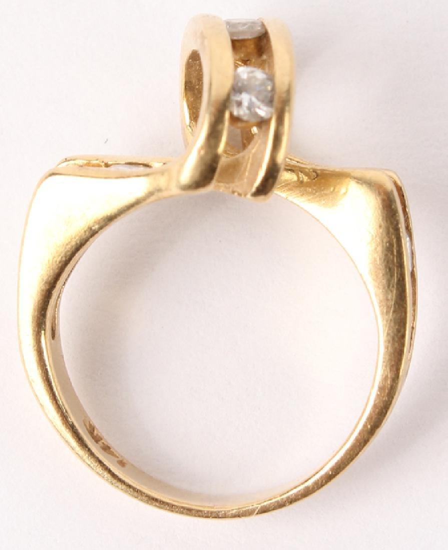 LADIES 14K YELLOW GOLD DIAMOND RING - 3