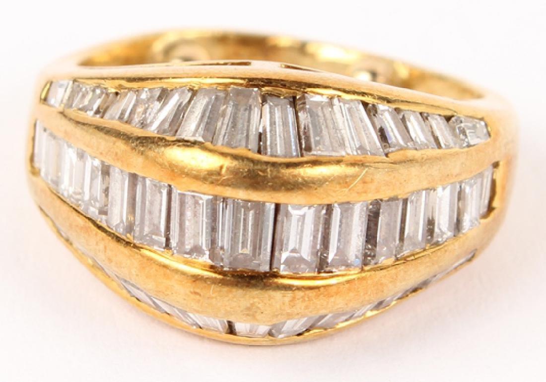 LADIES 18K YELLOW GOLD DIAMOND DOME RING