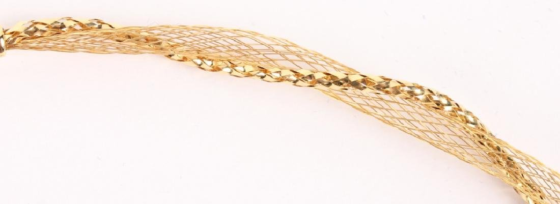 LADIES 14K YELLOW GOLD TWISTED DESIGN NECKLACE - 2