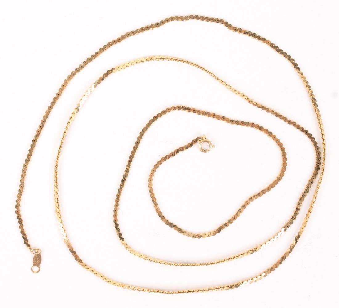 14K YELLOW GOLD B. DAVID LINK NECKLACE