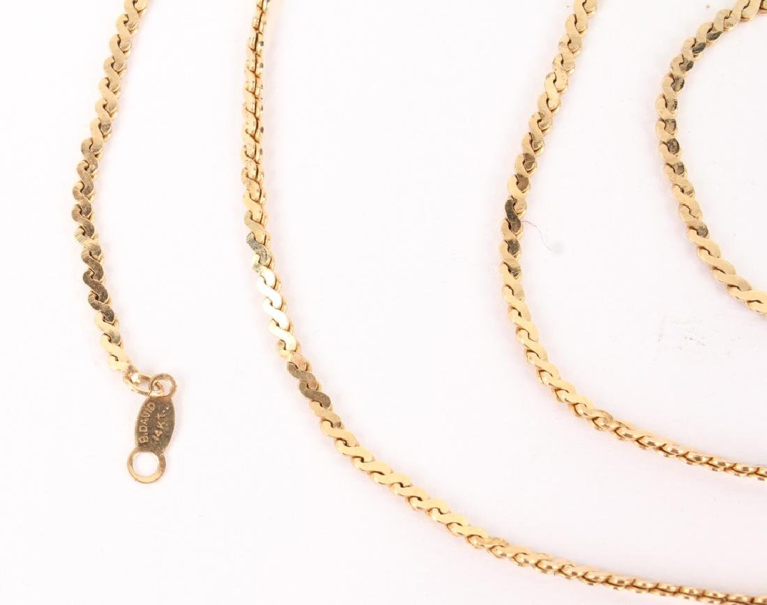 14K YELLOW GOLD B. DAVID LINK NECKLACE - 2