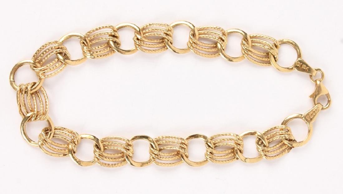 14K YELLOW GOLD CHAIN LINK BRACELET