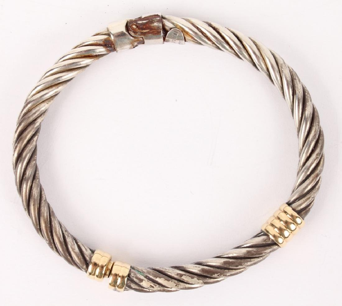 LADIES ALS ITALY 18K YELLOW GOLD STERLING BRACELET