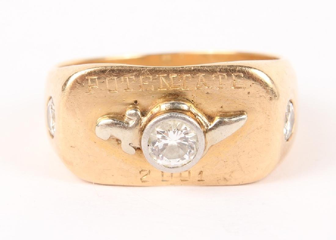 MENS SHRINERS POTENTATE 14K YELLOW GOLD RING