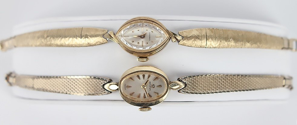 LADIES 14K GOLD FILLED OMEGA & LONGINES WATCHES