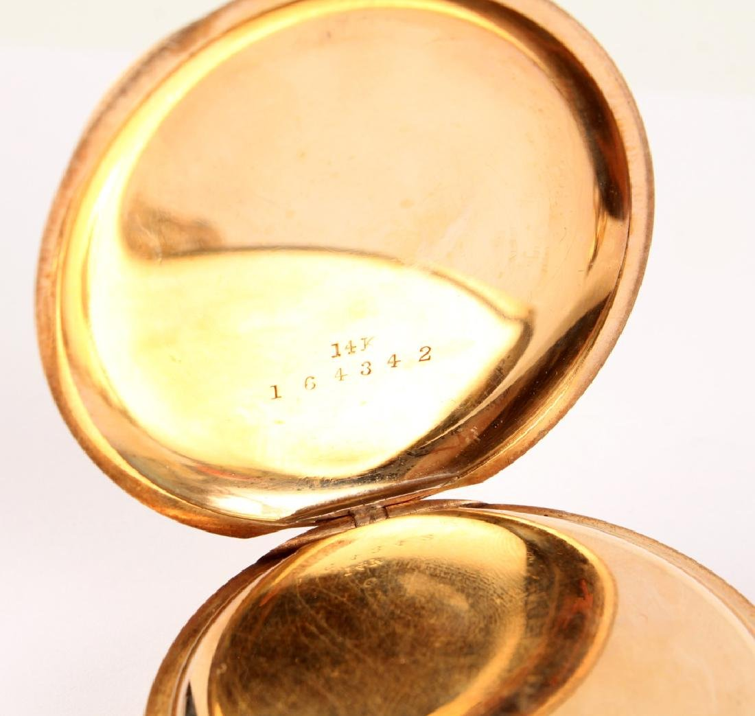 14K YELLOW GOLD FRANK HOLT & CO POCKET WATCH - 4