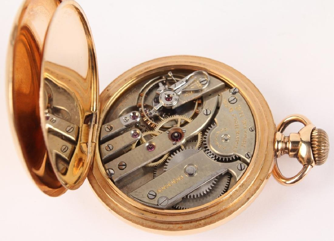 14K YELLOW GOLD FRANK HOLT & CO POCKET WATCH - 5