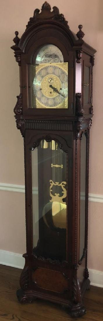 MOON PHASE MAHOGANY LONG CASE CLOCK by COLONIAL
