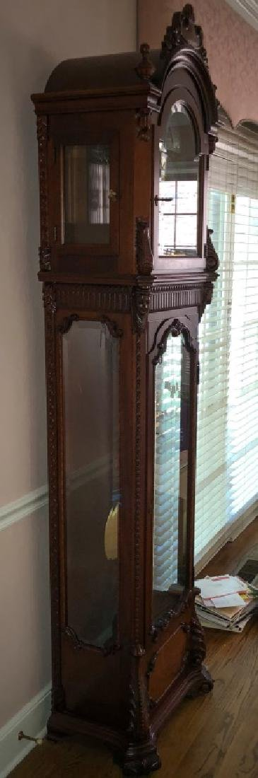 MOON PHASE MAHOGANY LONG CASE CLOCK by COLONIAL - 2