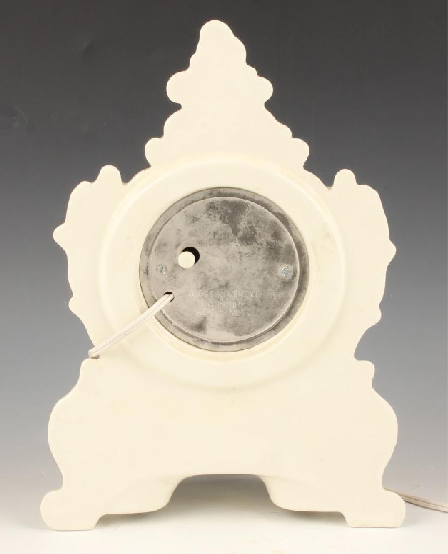 LANSHIRE PORCELAIN MANTLE CLOCK - 4