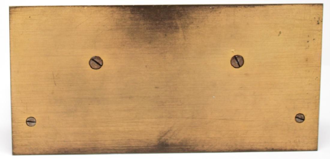 TILDEN - THURBER 8 DAY SWISS BRASS DESK CLOCK - 3