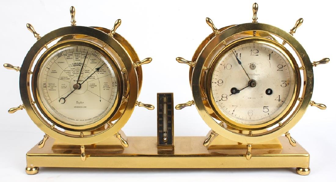 WATERBURY SHIP'S BELL NO.19 CLOCK & BAROMETER