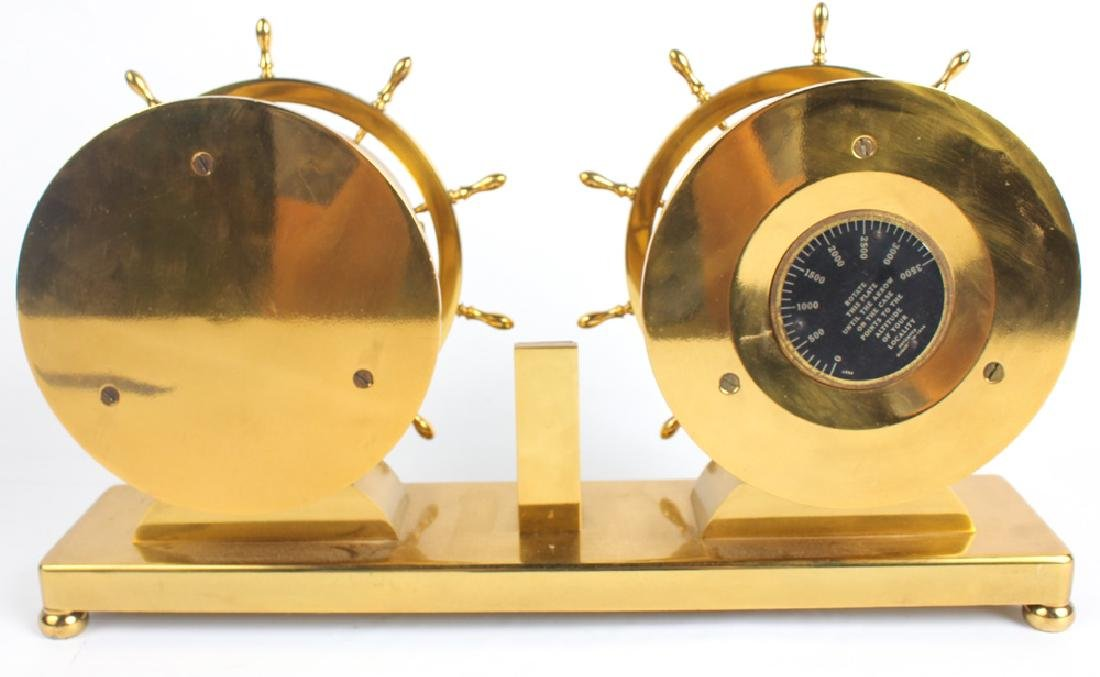 WATERBURY SHIP'S BELL NO.19 CLOCK & BAROMETER - 4