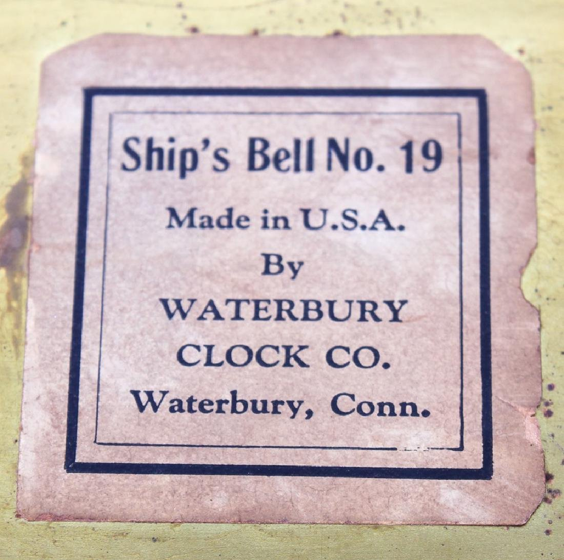 WATERBURY SHIP'S BELL NO.19 CLOCK & BAROMETER - 6