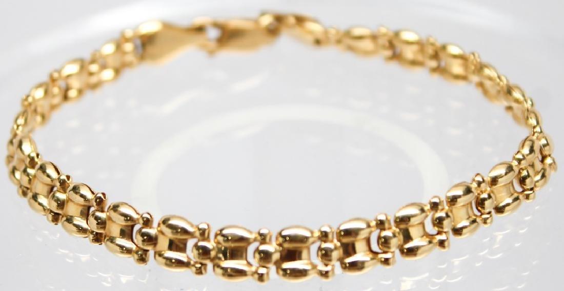 LADIES 18K YELLOW GOLD BRACELET