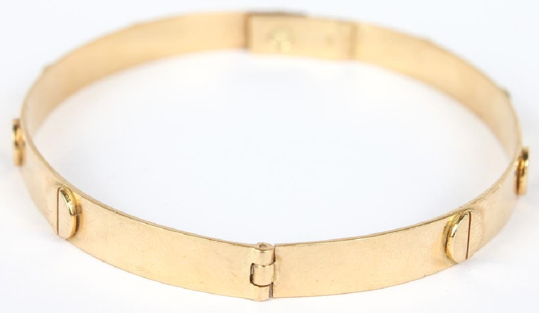 LADIES 18K YELLOW GOLD SCREW LOVE BRACELET - 2