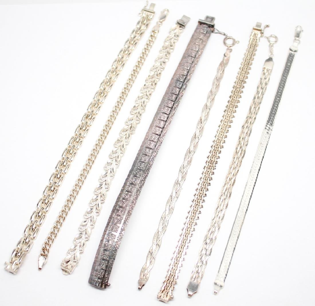 STERLING SILVER BRACELETS - LOT OF 8