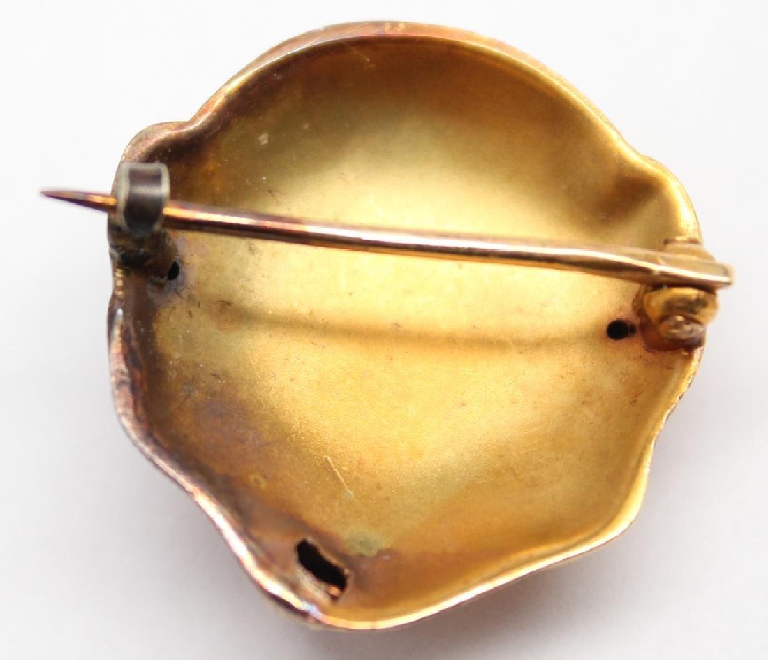 14K YELLOW GOLD DIAMOND MONKEY PIN - 2
