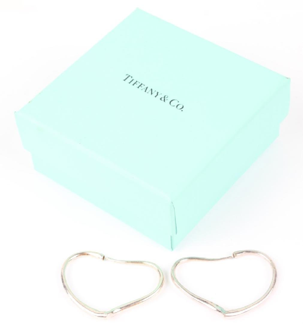 TIFFANY & CO ELSA PERETTI OPEN HEART HOOP EARRINGS