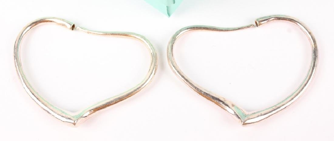 TIFFANY & CO ELSA PERETTI OPEN HEART HOOP EARRINGS - 2