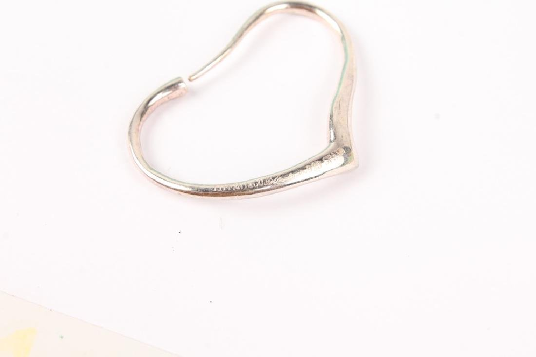 TIFFANY & CO ELSA PERETTI OPEN HEART HOOP EARRINGS - 3