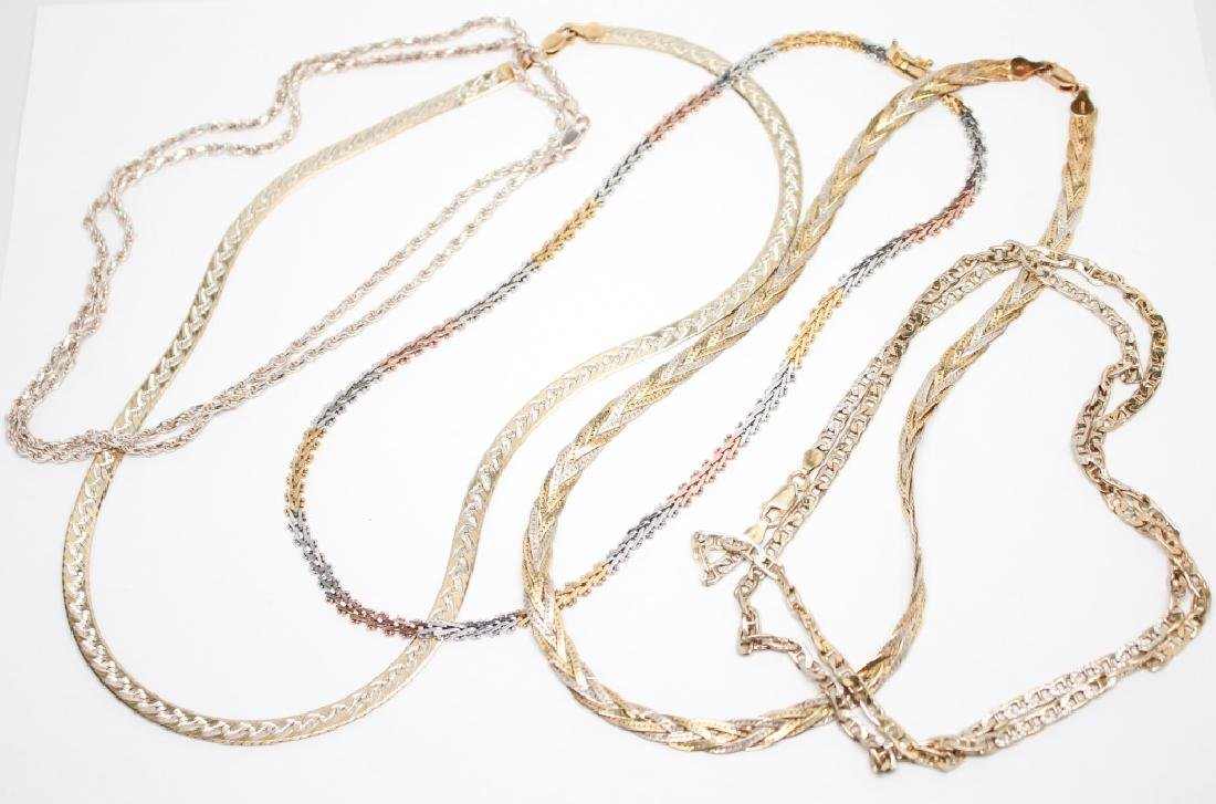 STERLING SILVER NECKLACES - LOT OF 5