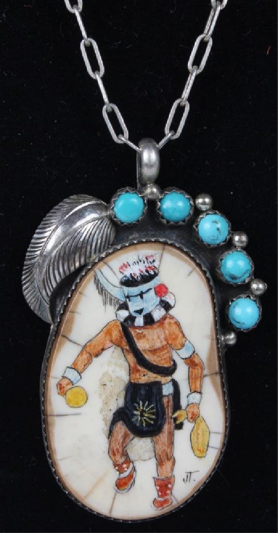 STERLING SILVER TURQUOISE S.K. EMERSON NECKLACE