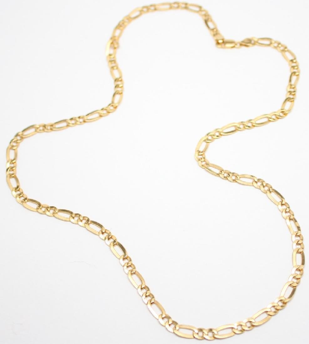 LADIES 14K YELLOW GOLD CHAIN LINK NECKLACE