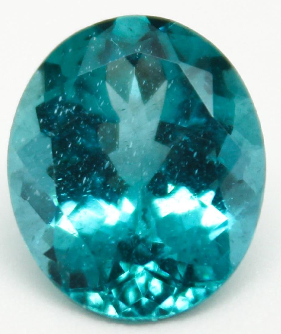 5.53CT OVAL BLUE APATITE MADAGASCAR GEMSTONE