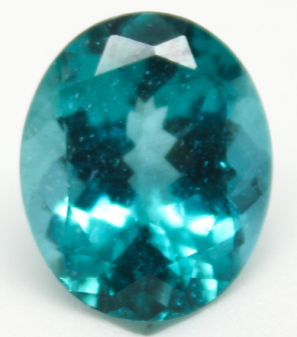 5.53CT OVAL BLUE APATITE MADAGASCAR GEMSTONE - 2